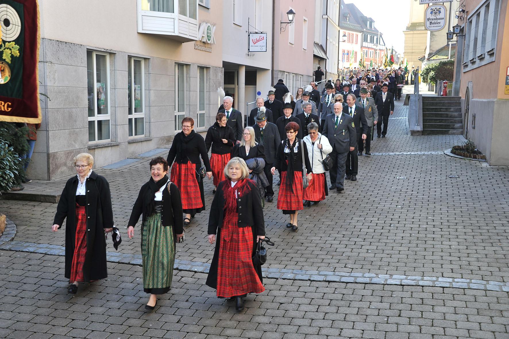 Bad Ansbach schützengau ansbach zeigt flagge beim mittelfränkischen schützentag